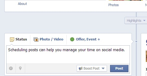 Scheduling posts helps to manage your time.